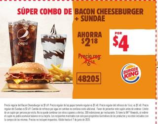 Súper Combo de Bacon Cheeseburger