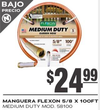 Manguera Flexon 5/8 x 100 ft