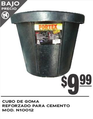 Cubo de Goma Reforzado para Cemento