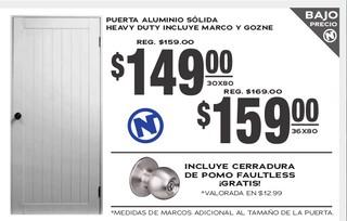 Puerta Aluminio Sólida