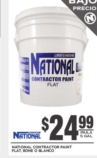 National Contractor Paint Flat Bone o Blanco