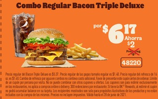 Combo Regular Bacon Triple Deluxe