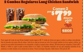 2 Combo Regulares Long Chicken Sandwich