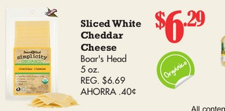 Sliced White Cheddar Cheese