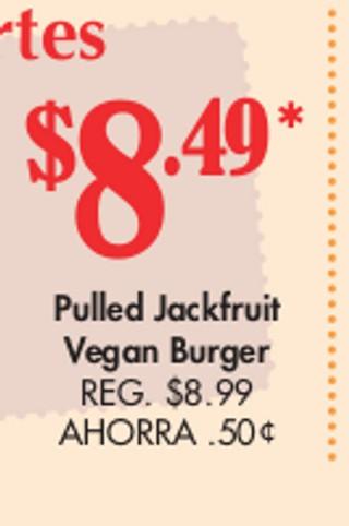 Pulled Jackfruit Vega Burger