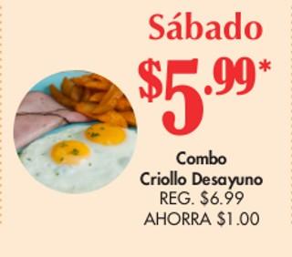 Combo Criollo Desayuno