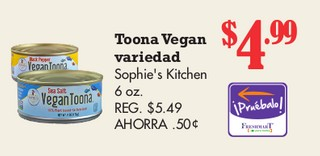 Toona Vegan Variedad Sophie's Kitchen 6 oz