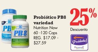 Probiotico PB8 Variedad Nutrition Now 60 - 120 Caps