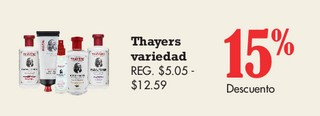 Thayers Variedad