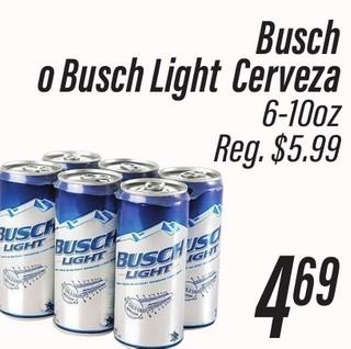 Busch o Busch Light Cerveza