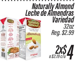 Naturally Almond Leche de Almendras