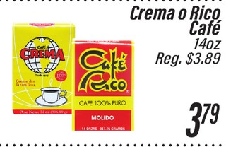 Crema o Rico Café