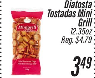 Diatosta Tostadas Mini Grill