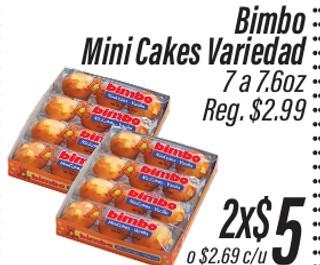 Bimbo Mini cakes