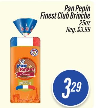 Pan Pepín Finest Club Brioche
