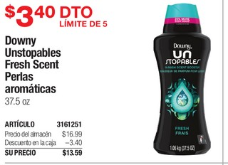 Downy unstopables Fresh Scent