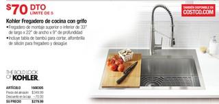 Kohler Fregadero de cocina con grifo