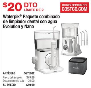 Waterpik Paquete combinado de limpiador dental con agua Evolution y Nacho