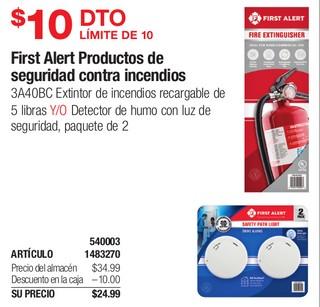 First Alert Productos de seguridad contra incendios