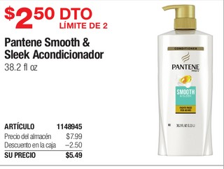 Pantene Smooth & Sleek Acondicionador