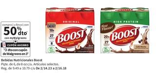 Bebidas Nutricionales Boost