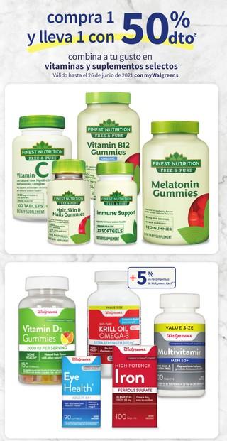 Combina a tu gusto vitaminas y suplementos selectos
