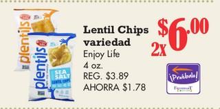 Lentil Chips Variedad