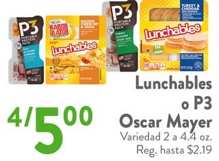 Lunchables o P3 Oscar Mayer