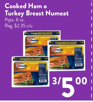 Cooked Ham o Turkey Breat Numeat