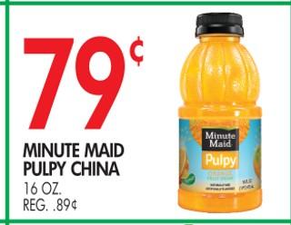 Minute Maid Pulpy China