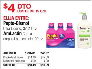 Pepto-Bismol o Amlactin