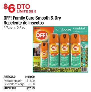 Off! Family Care Smooth & Dry Repelente de Insectos
