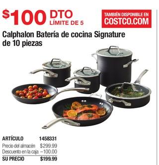 Calphalon Batería de Cocina Signature de 10 Piezas