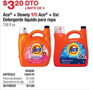 Ace + Downy Y/O Ace + Oxi Detergente liquido para ropa