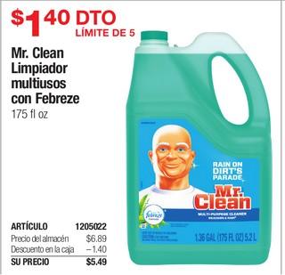 Mr. Clean Limpiador multiusos con febreze