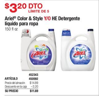 Ariel Color & Style Y/O HE Detergente liquido para ropa