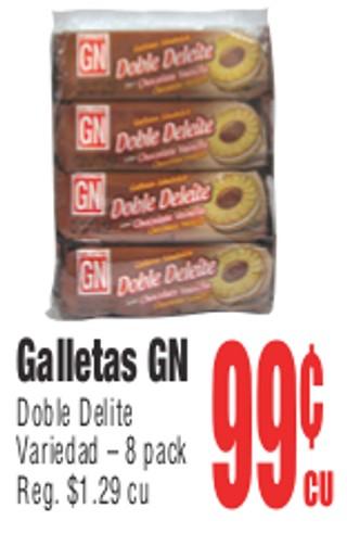 Galletas GN Doble Delite