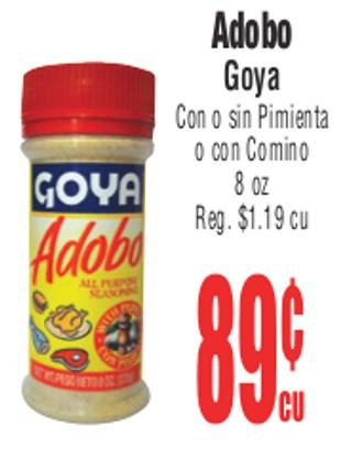 Adobo Goya Con o Sin Pimienta