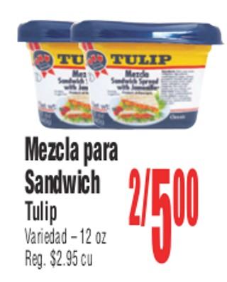 Mezcla para Sandwich Tulip
