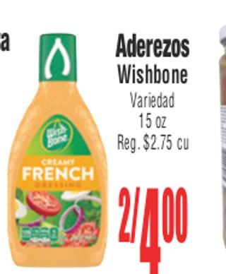 Aderezos Wishbone Variedad