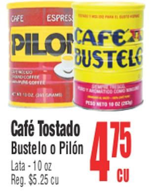 Café Molido Bustelo o Pilón