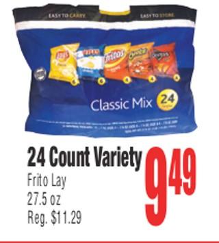 24 Count Variety Frito Lay