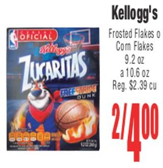 Kellogg's Frosted Flakes o Corn Flakes
