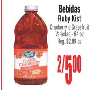Bebidas Ruby Kist