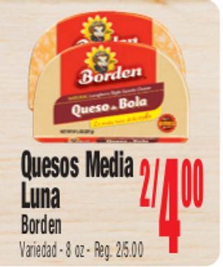 Quesos Media Luna Borden