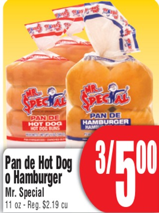 Pan de Hot Dog o Hamburger