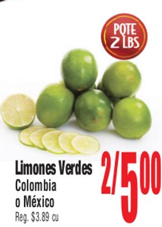 Limones Verdes Colombia o Mexico