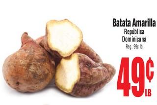 Batata Amarilla Republica Dominicana
