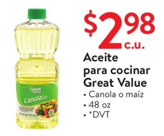 Aceite para Cocinar Great Value