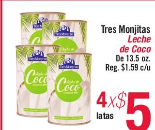 Tres Monjitas Leche de Coco